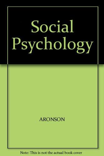social psychology aronson 8th edition pdf