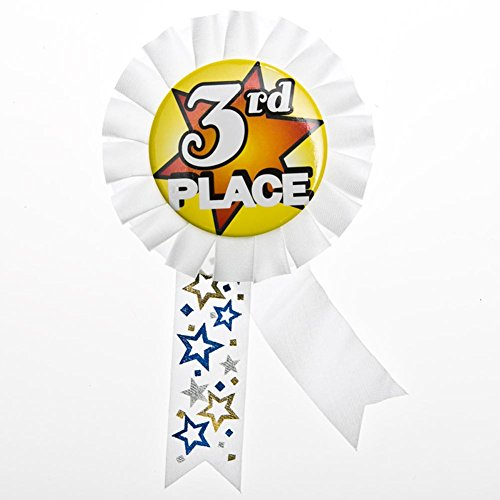 3rd Place Rosette Ribbon Button