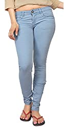 Carrel Bring In Skinny Jeans Stretchable Denim Light Sky Colour For Womens