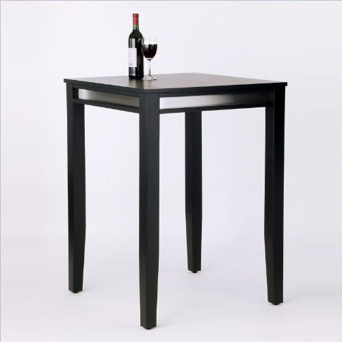 Home Styles™ Manhattan Black Pub Table with Stainless Steel Accents