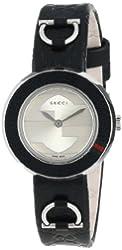 Gucci Women's YA129508 U-Play Small Black Leather Watch