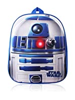 Star Wars Mochila R2D2 Logo (Blanco / Azul Royal)