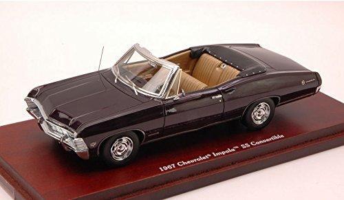 chevrolet-impala-ss-convertible-1967-dark-prune-143-true-scale-miniatures-auto-stradali-modello-mode