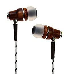 Symphonized NRG Premium Genuine Wood In-ear Noise-isolating Headphones with Mic (Zebra)