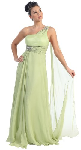 Image of Prom One Shoulder Dress New Elegant Long Gown #2707