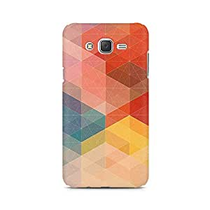 Ebby Geometric Hues of Red Premium Printed Case For Samsung J5