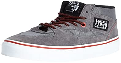 Buy Vans Mens Half Cab Hiker Mid Top Skate Shoes,Steel Gray formula One by Vans