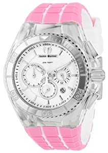 """TechnoMarine Unisex 112024  """"Vichy"""" Dive Watch with Interchangeable Band"""