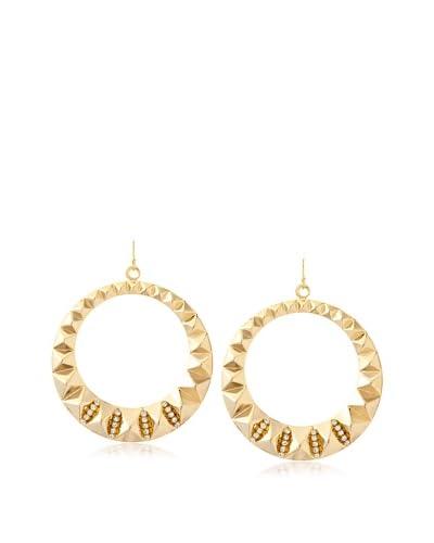a.v. max Rhinestone Stud Gypsy Hoop Earrings
