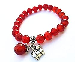 Feng Shui Handmade Chinese Zodiac Red Agate Beads Bracelet and a Gift Pounch with Betterdecor Logo Printed on It by Betterdecor