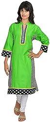 Goodyygoods Women's Cotton Regular Fit Kurti (GG 54, Green, X-Large)