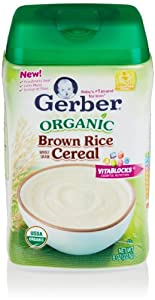 Gerber Baby Cereal, Organic Brown Rice, 8 Oz