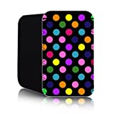 POLKA Dot [Black - Multicolour] Nokia Lumia 820 (L) Shock Resistant Neoprene Mobile Phone Case, Cover, Pouch