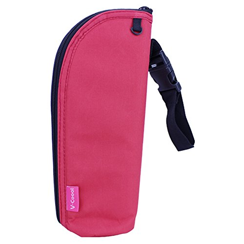 Baby Bottle Warmer Insulator Carrier Cooler Bag Could Be Attached To Stroller (Red) front-44166