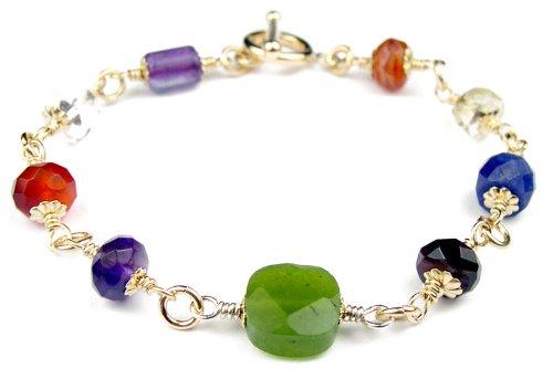 Damali 7BGF – Chakra Spiritually Balancing Healing Gemstone Bracelets – MEDIUM 7.5