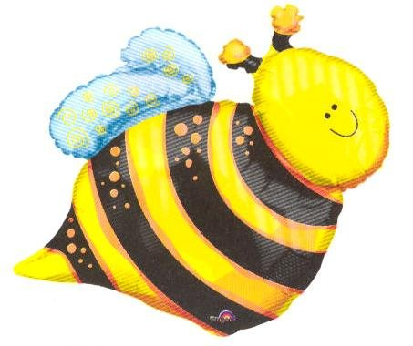 """Buzz Bumble Bee Shape 25"""" Foil Balloon Birthday Party Baby Shower Decor"""