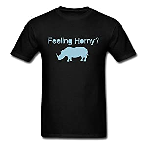 ParentTTS 2015 Fashion Men's Rhino Logo T-Shirts black