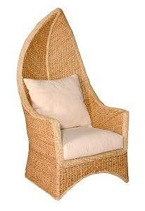 hansen 3725 p190 sessel hochlehner aus wasserhyazinthe mit extra dicken polstern b 73 t 94 h. Black Bedroom Furniture Sets. Home Design Ideas