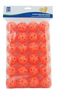 PGA Tour Air Flow Lot de 24 balles de golf d'entraînement Orange