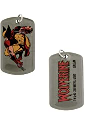 Marvel Comics Wolverine Action Dog Tag Necklace 5015