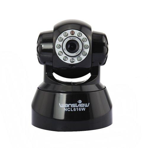 Wansview ORIGINAL steuerbare Pan Tilt WLAN IP Kamera mit eingebautem Motor, Mikrofon, Lautsprecher, Alarm IO Ein/Ausgang sowie mit IR Nachtsicht. Für MAC / Windows / Linux / Android und IPhone!