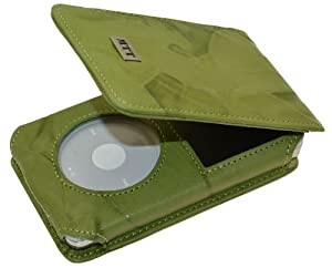 MTT Flip-Tasche für Apple iPod Classic Modelle - 30GB / 60GB / 80GB / 120GB / 160GB Video / in wash-grün
