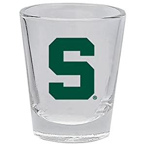 Buy Michigan State Spartans 2 oz Collector Shot Glass Clear by Michigan State Spartans