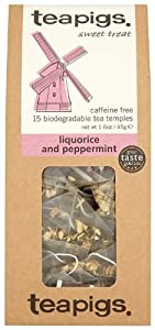 Teapigs Liquorice Peppermint tea 15 Teabags (Pack of 2, Total 30 Teabags)