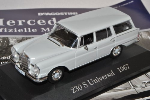 Mercedes-Benz 230 S Strich Acht Kombi T-Modell Grau W115 1967-1976 Inkl Zeitschrift Nr 12 1/43 Ixo Modell Auto