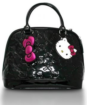 a9659a8d41 Hello Kitty Black Patent Embossed Purse