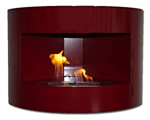 New corner fireplace riviera red deluxe bio ethanol gel for Alcohol gel fireplace