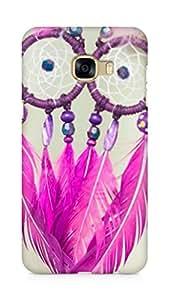 AMEZ designer printed 3d premium high quality back case cover for Samsung Galaxy C5 (dreamcatcher pink purple)