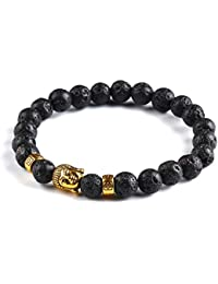 Hot And Bold Good Luck Natural Stones Divine Buddha Beads Bracelet. Daily/Casual/Party/Office Wear Reiki Healing...