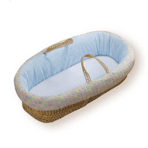 Imagen de Baby Doll Bedding Minky Moisés Basket, Blue