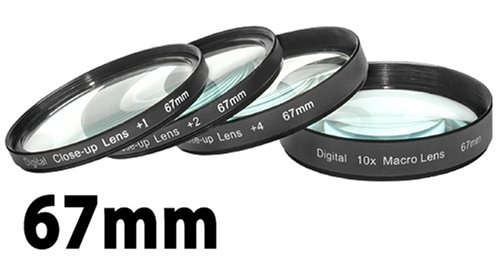 Digital Concepts +1 +2 +4 +10 Close-Up Macro Filter Set with Pouch (67mm)