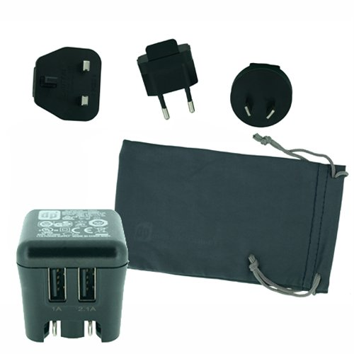 PQI JAPAN dp+ 3.1AハイパワーAC充電器 インターナショナルエディション ブラック C300A11JP