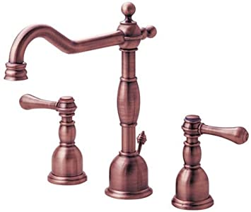 Danze D304057AC Opulence Two Handle Widespread Lavatory Faucet, Antique Copper
