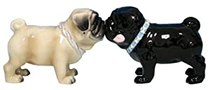 Westland Giftware Mwah Magnetic Pugs Salt and Pepper Shaker Set, 2-1/2-Inch