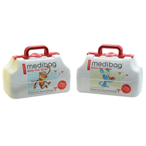 medibag 117 Piece Kid Friendly First Aid Kit for the Whole Family Baby Infant Medi Bag Best Package