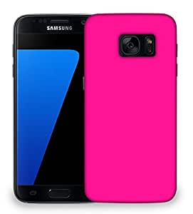 Snoogg Plain Pink Designer Protective Phone Back Case Cover For Samsung Galaxy S7