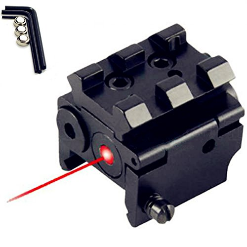 WNOSH Tactical Red Dot Laser Water Shock Proof Sight for Military Sniper Rifle Red Laser Mil Dot Sight Scope with Mounts (Military Red Laser compare prices)