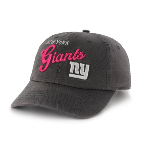 NFL New York Giants Women's Breast Cancer Awareness Audrey Clean Up Cap, Charcoal at Amazon.com