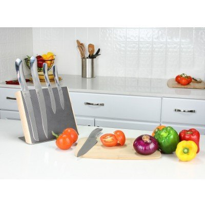 Haus by Kalorik Designer Sleek Knife Set, Stainless Steel (5-Piece)