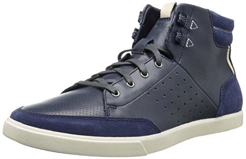 Cole Haan Men's Owen Hi Top Fashion Sneaker, Berkeley Blue, 9.5 M US