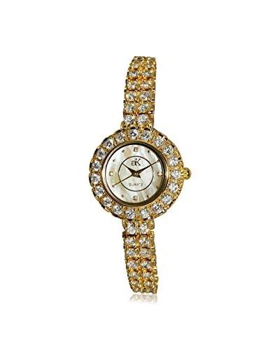 Adee Kaye Women's AK29-LG Mother-of-Pearl, Crystal & Brass Watch