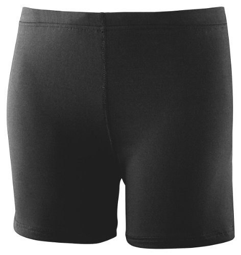 Augusta Drop Ship Girl'S Poly/Spandex Short - Black - S front-574216