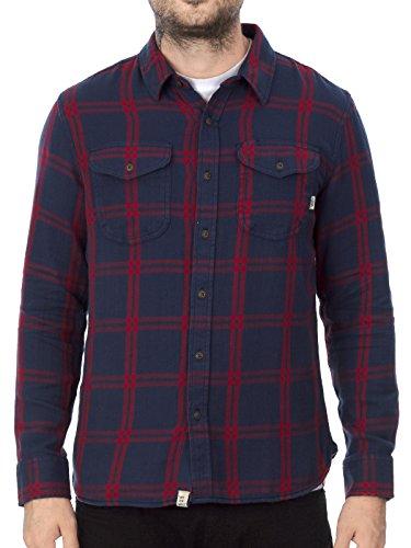 Camicia A Maniche Lunghe Vans Wayland Dress Blu-Rosso Dhalia (S , Blu)