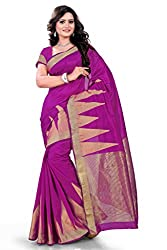 Amigos Fashion Women's Tassar Silk Saree (AF-08)