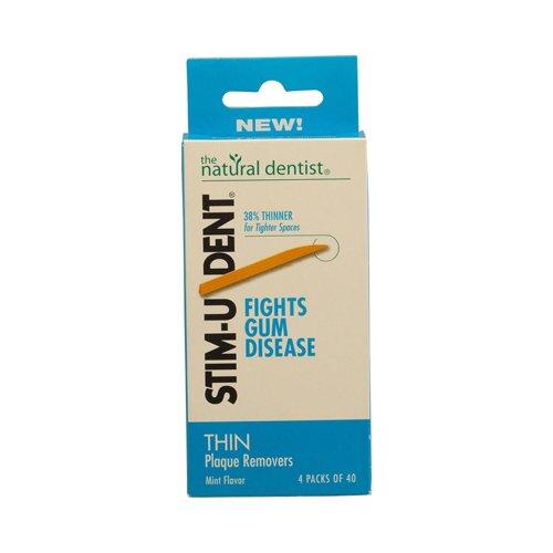 Natural Dentist Stim U Dent Thin Plaque Removers Mint Case Of 6 4 Packs