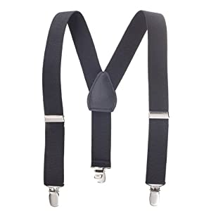 Solid Color Kids Elastic Adjustable Suspenders (Available in 3 Sizes and 17 Colors) from Hold'Em